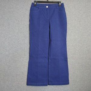 St. John Capri Women's Royal Blue Pants Size 2